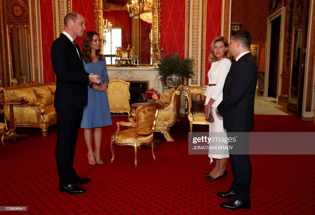 BRITAIN-UKRAINE-DIPLOMACY-ROYALS : News Photo