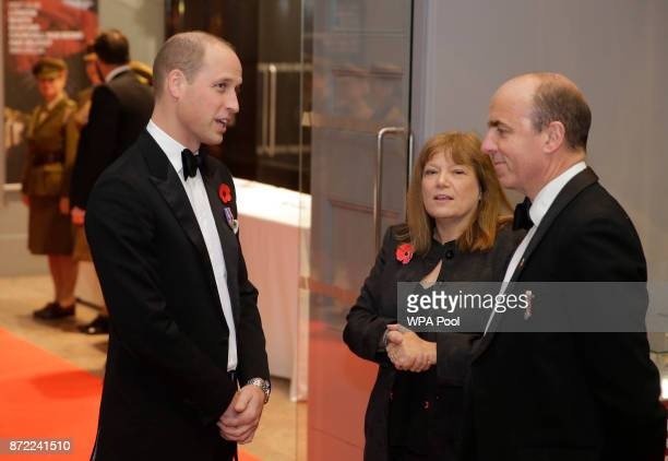 Britain's Prince William Duke of Cambridge is greeted as he arrives at the City Veterans Network third annual dinner given in aid of the Defence...