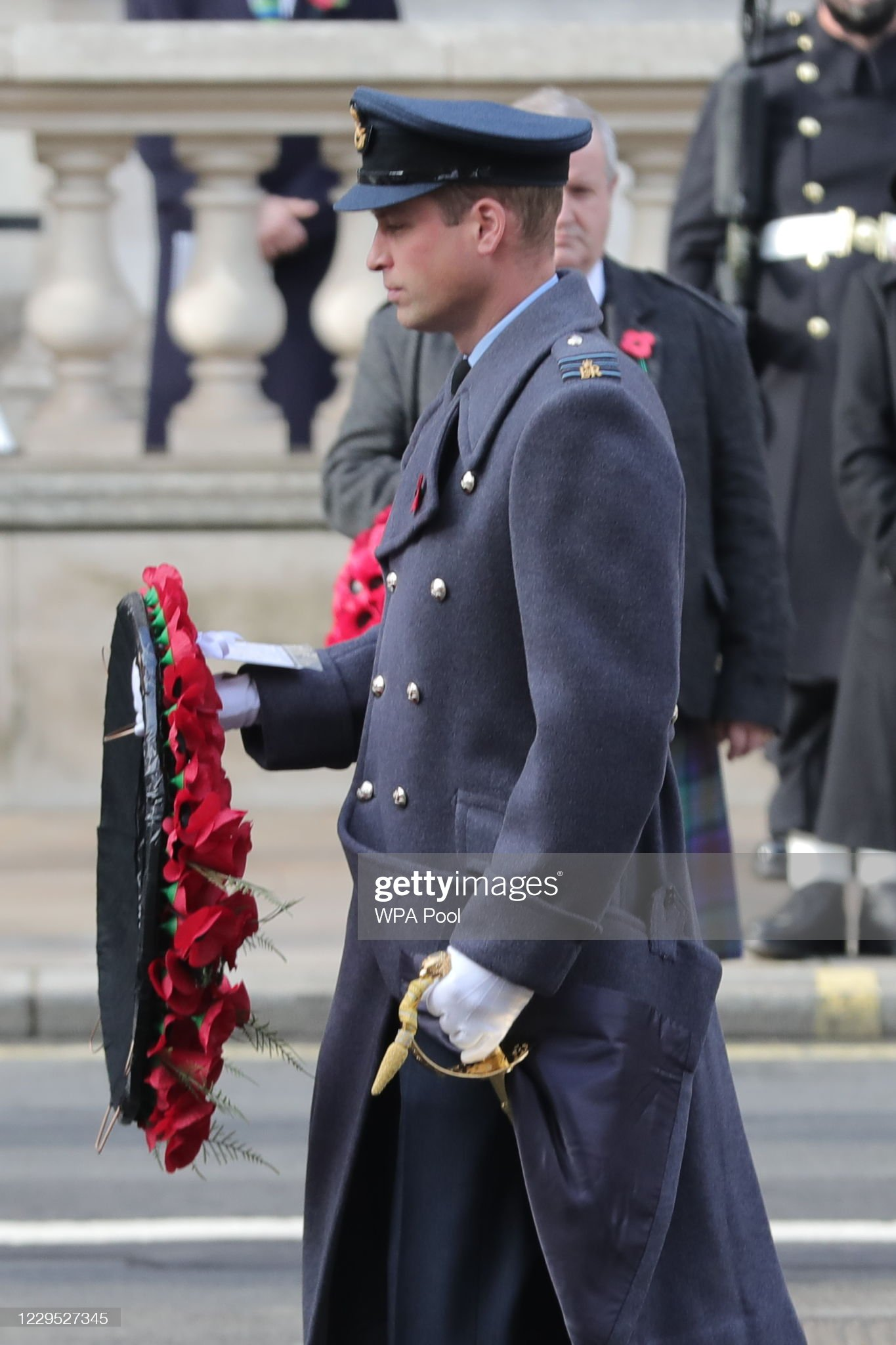 https://media.gettyimages.com/photos/britains-prince-william-duke-of-cambridge-lays-a-wreath-during-a-of-picture-id1229527345?s=2048x2048