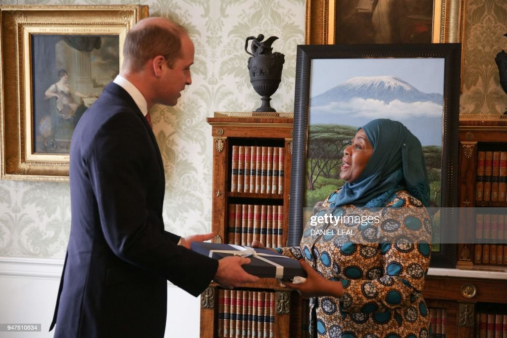 BRITAIN-COMMONWEALTH-ROYALS-AUDIENCE : News Photo