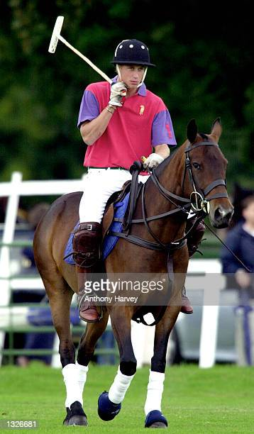 Britain''s Prince William takes part in an exhibition Polo match July 15 2001 at Cirencester Park Polo Club in Gloucestershire England