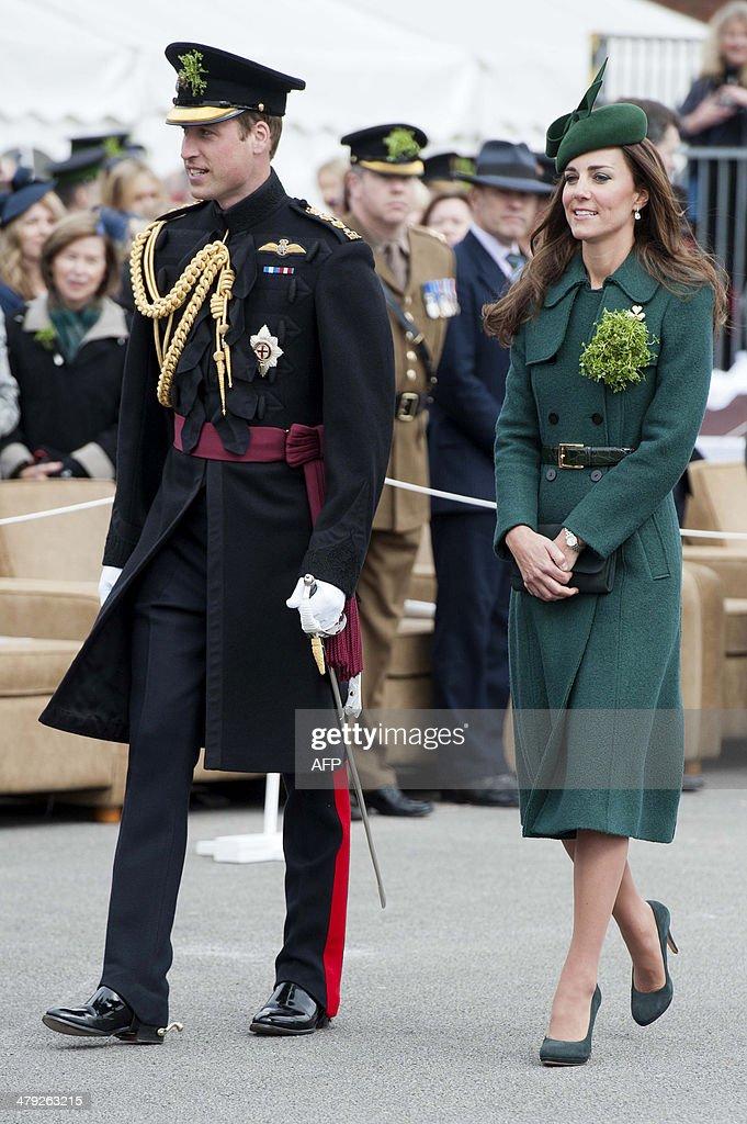 BRITAIN-ROYALS-SAINT PATRICK'S DAY : News Photo