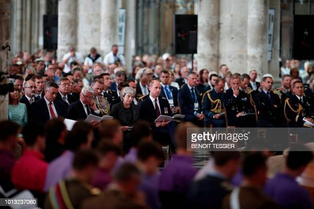 Britain's Prince William the Duke of Cambridge Britain's Prime Minister Theresa May and former German President Joachim Gauck attend a religious...