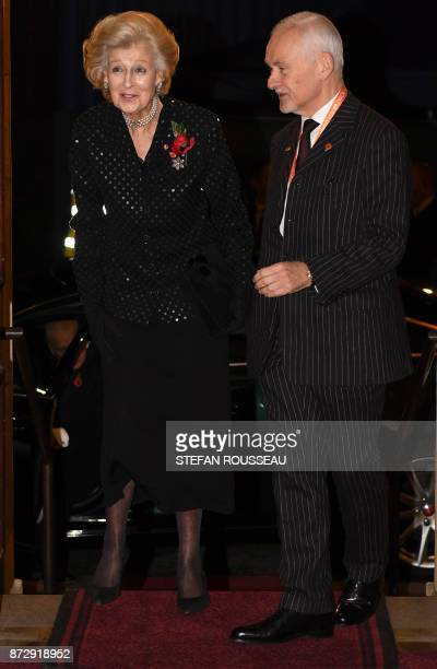 Britain's Princess Alexandra arrives for the the annual Royal Festival of Remembrance at the Royal Albert Hall in London on November 11 2017 on...