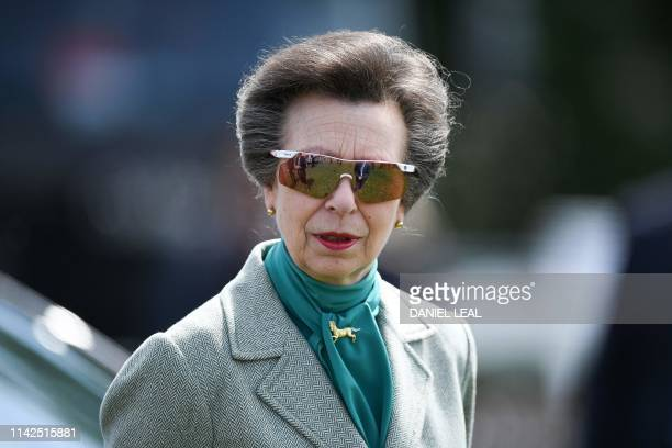 Britain's Princess Anne Princess Royal attends the annual Royal Windsor Horse Show in Windsor west of London on May 10 2019 The horse show is the...