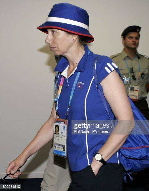Britain's Princess Anne the Princess Royal leaves the Peristeri Olympic Boxing Hall in Athens Greece after watching British boxer Amir Khan's victory...