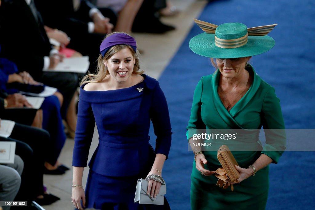 BRITAIN-ROYALS-WEDDING-EUGENIE : Fotografía de noticias