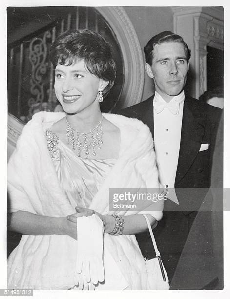Britain's Princess Margaret and her husband Antony ArmstrongJones attend the performance of the Royal Ballet here at Convent Garden Opera House