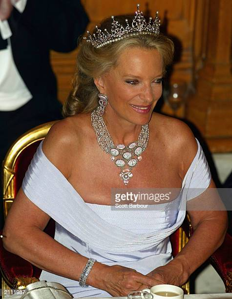 Britain's Princess Michael of Kent attends the Guildhall Banquet held in honor of Russian President Vladimir Putin and his wife June 25 2003 in...