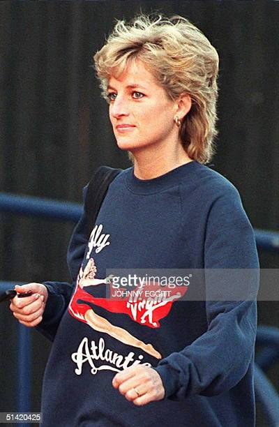 Britain's Princess of Wales arrives at her London health club 20 November before her controversial TV interview later this evening. The Princess is...