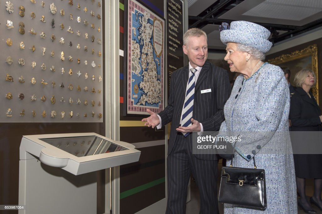 BRITAIN-ROYALS-ARMY-MUSEUM : News Photo