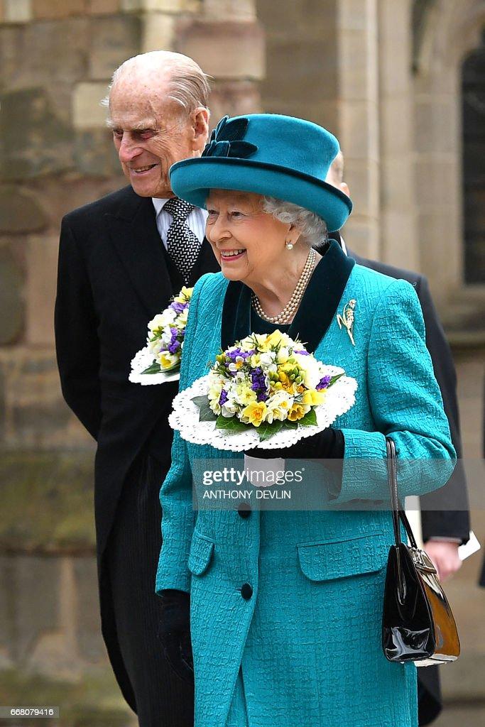 BRITAIN-ROYALS-MAUNDY-SERVICE : News Photo