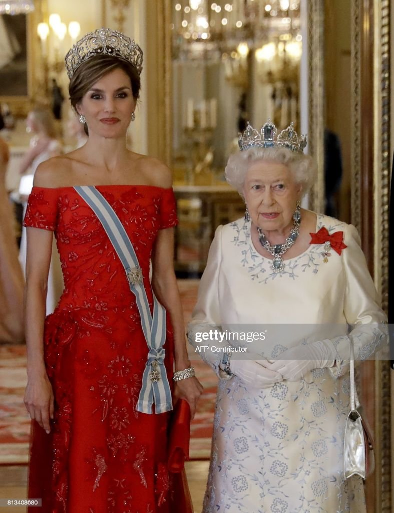 BRITAIN-SPAIN-ROYALS : News Photo