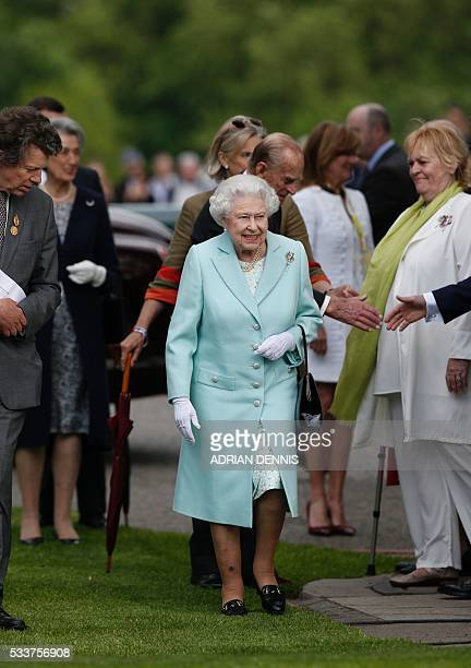 Britain's Queen Elizabeth II arrives at the 2016 Chelsea Flower Show in central London on May 23 2016 Britain has a 'lost generation' with no...