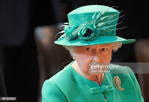 Britain's Queen Elizabeth II attends a service to mark the Centenary of the Order of the British Empire at St Paul's Cathedral London May 24 2017 /...