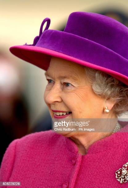 Britain's Queen Elizabeth II during a visit to RAF Coltishall Thursday November 17 2005 marking the 65th anniversary of the airfield The Queen also...