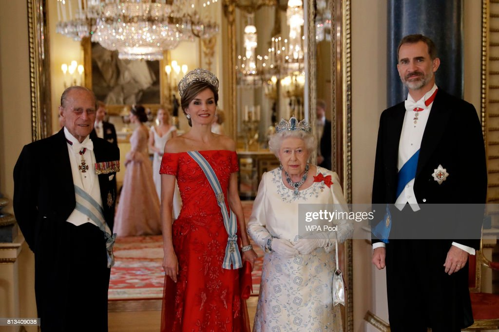 State Visit Of The King And Queen Of Spain - Day 1 : Nieuwsfoto's