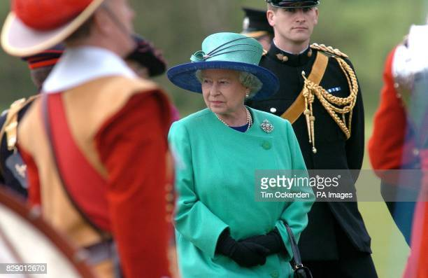 Britain's Queen Elizabeth II inspects the Light Cavalry Division at Windsor Great Park The Queen today followed in the footsteps of Henry VIII as she...