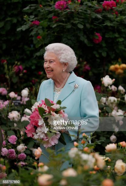 Britain's Queen Elizabeth II is pictured as she visits the 2016 Chelsea Flower Show in central London on May 23 2016 Britain has a 'lost generation'...