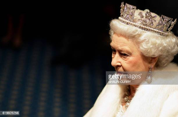 Britain's Queen Elizabeth II is pictured during the State Opening of Parliament in London on December 3 2008 Queen Elizabeth II unveiled the British...