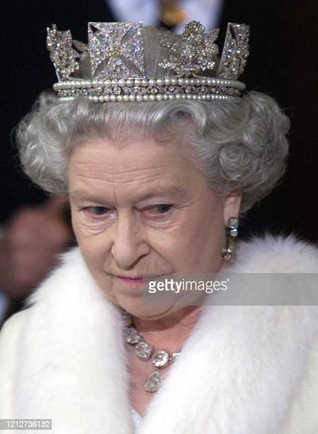 Britain's Queen Elizabeth II leaves from the Sovereign's Entrance of the Palace of Westminster, the Houses of Parliament, after the State Opening of...