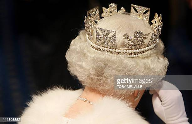Britain's Queen Elizabeth II leaves the House of Lords in Westminster in London 06 November 2007 after the State Opening of Parliament /WPA POOL