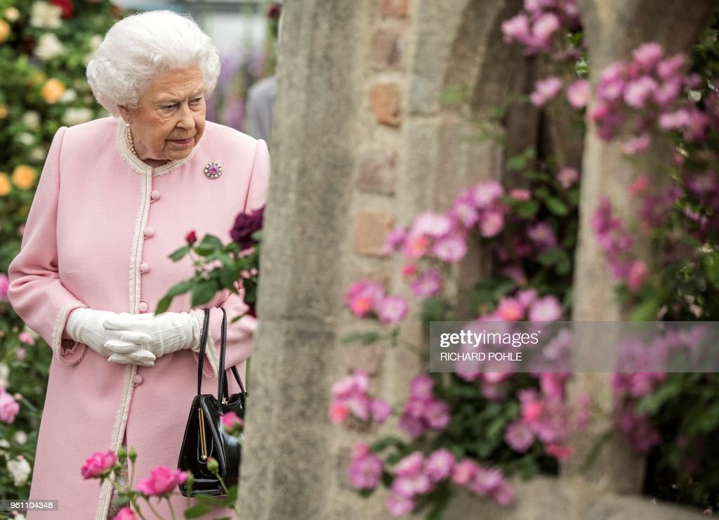 BRITAIN-ENTERAINMENT-ART-CHELSEA FLOWER SHOW-ROYALS : News Photo