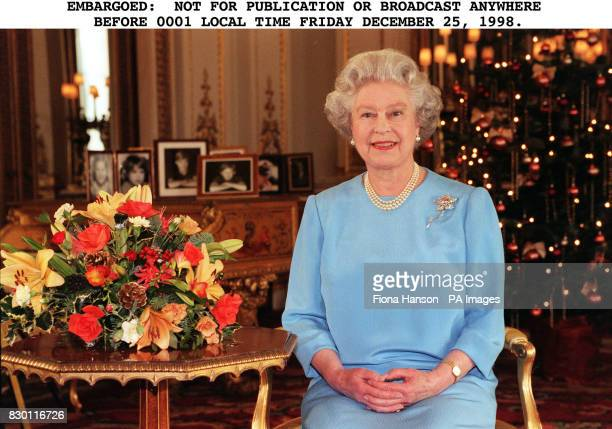 Britain's Queen Elizabeth II makes her traditional Christmas Day broadcast.