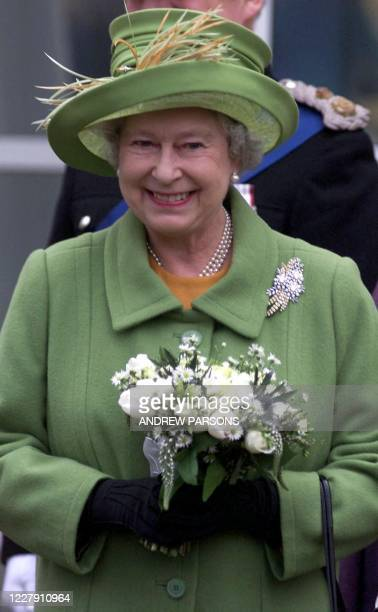 Britain's Queen Elizabeth II opens the new Macmillan Cancer Care Hospital at The Queen Elizabeth Hospital in Kings Lynn Norfolk 06 February 2002 on...