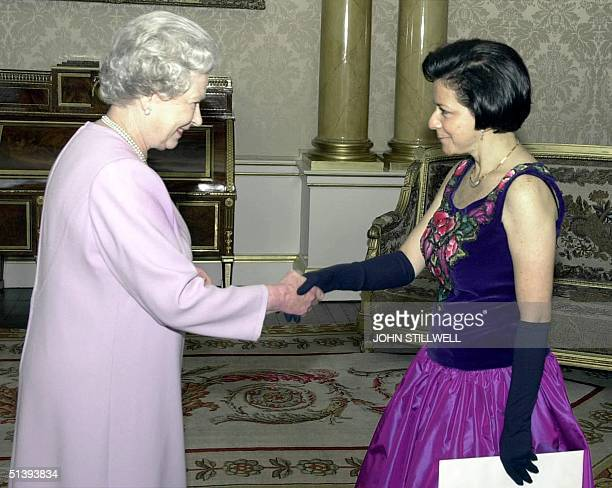 Britain's Queen Elizabeth II receives her Excellency the Ambassador of Mexico Senora Alma Rosa Moreno Razo who presented her Letters of Credence at...