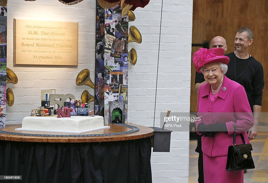 The Queen And The Duke Of Edinburgh Visit The National Theatre : News Photo