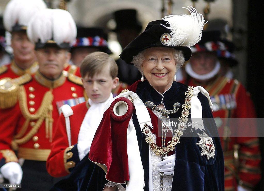 BRITAIN-ROYALS-GARTER-CEREMONY : News Photo