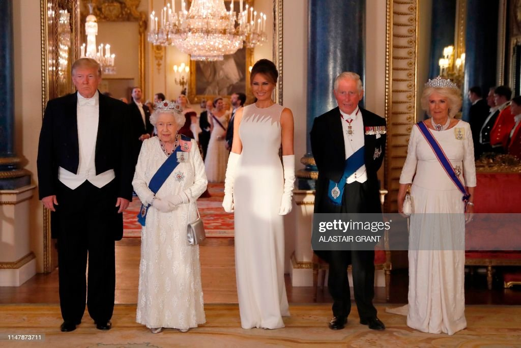 BRITAIN-US-POLITICS-DIPLOMACY-ROYALS : News Photo