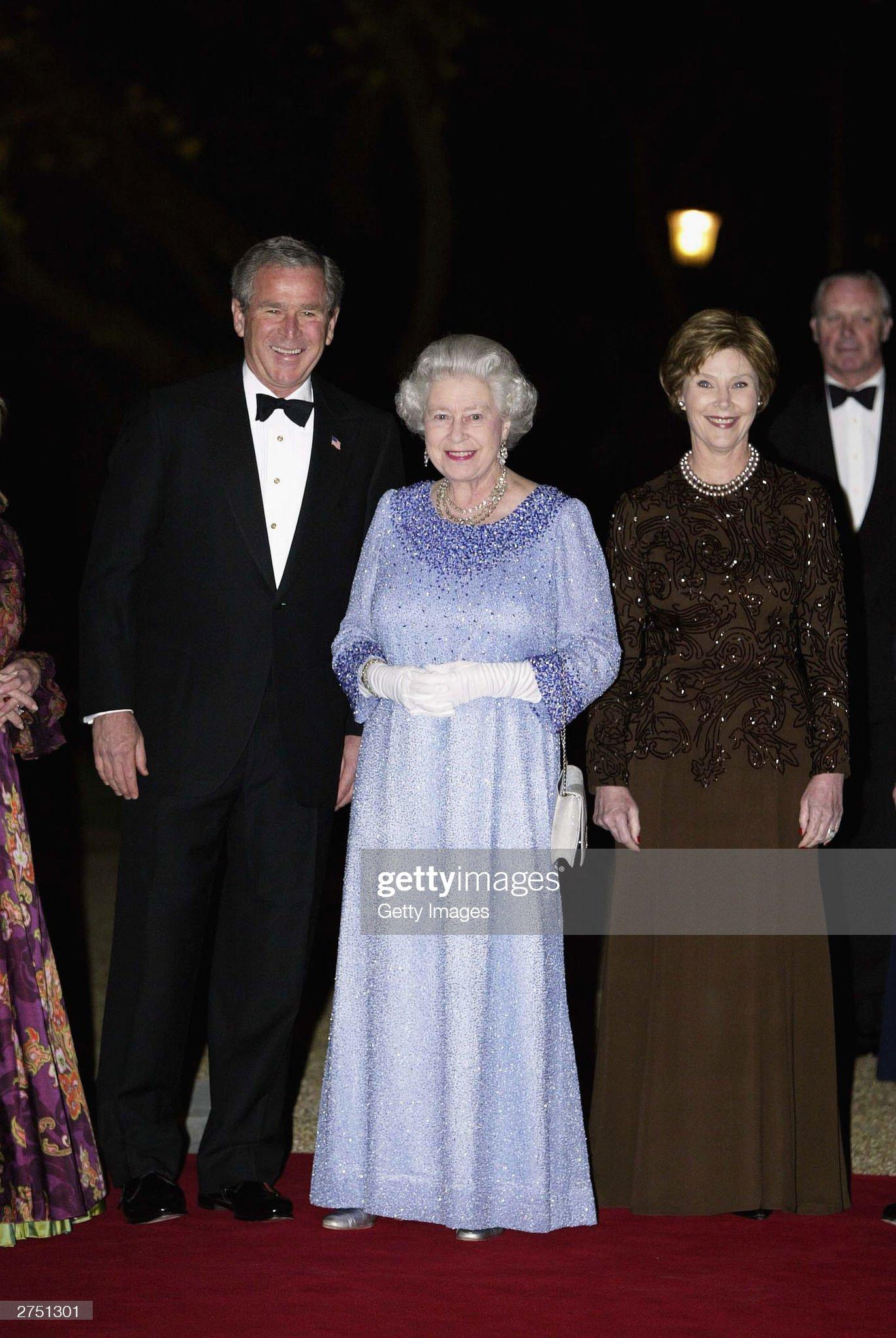 British Royalty Attend U.S. President's Return Banquet : News Photo