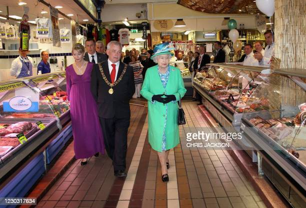 Britain's Queen Elizabeth II visits the English market in Cork, on the last day of her four-day visit to Ireland, on May 20, 2011. Britain's Queen...