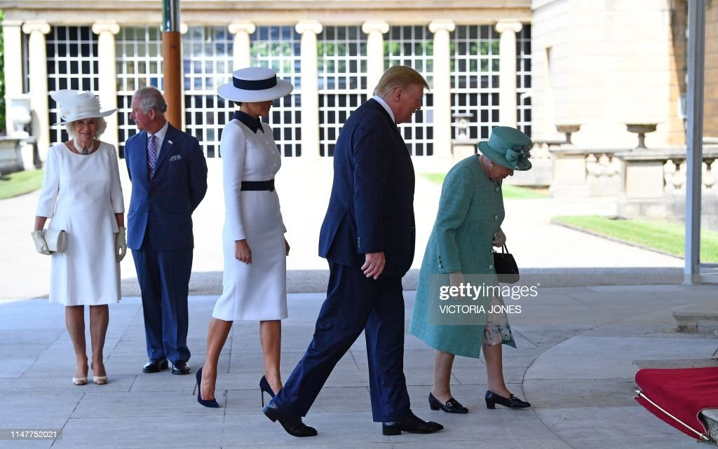 BRITAIN-US-POLITICS-DIPLOMACY-ROYALS : News Photo