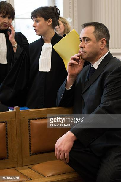 Britain's Robert Lawrie is pictured on January 14, 2016 in Boulogne-sur-Mer prior to the start of his trial for trying to bring a four-year-old...