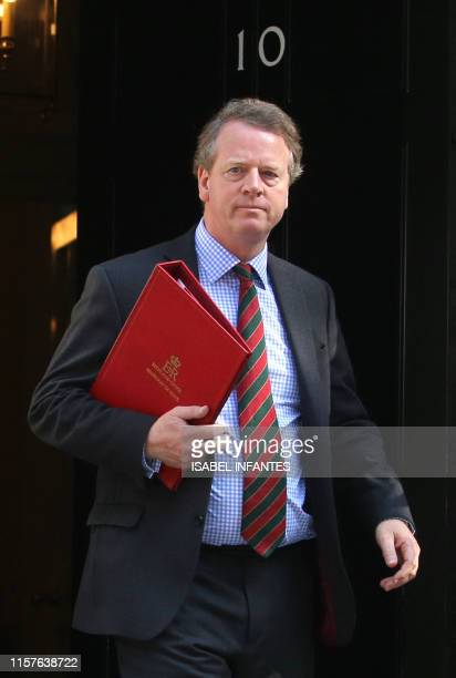 Britain's Scotland Secretary Alister Jack leaves 10 Downing street after a cabinet meeting in London on July 25 2019 Britain's newly installed Prime...