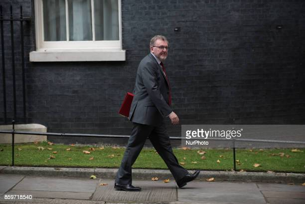 Britain's Scotland Secretary David Mundell leaves Downing Street following a Cabinet meeting on October 10 2017 in London England The Cabinet meeting...