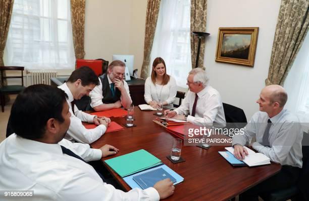 Britain's Secretary of State for Exiting the European Union David Davis Permanent Representative of the United Kingdom to the European Union Sir Tim...