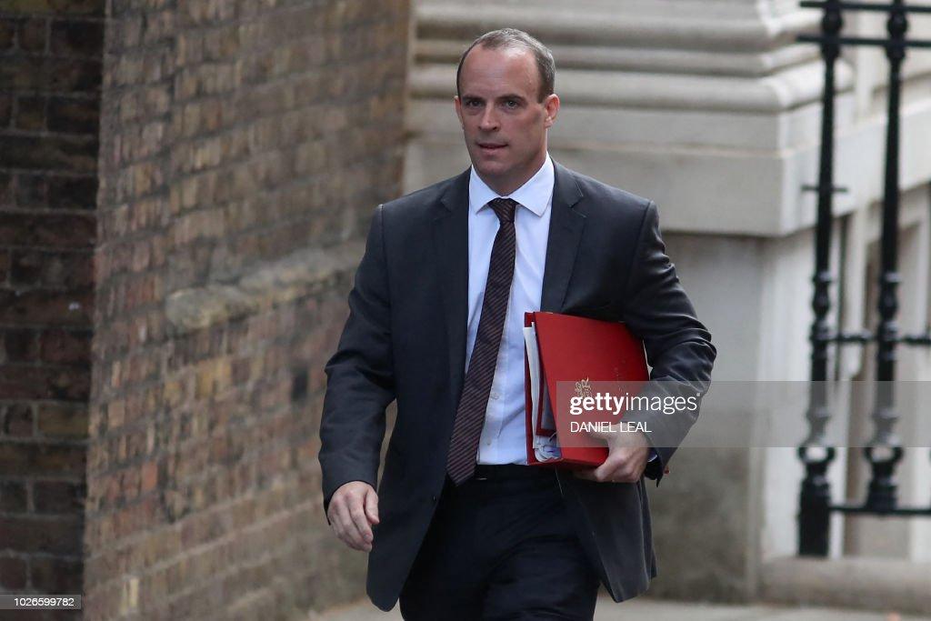 BRITAIN-POLITICS-EU-BREXIT : News Photo