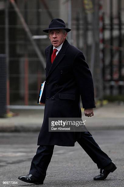 Britain's Secretary of State for Justice Jack Straw arrives for the weekly cabinet meeting at Downing Street on February 23 2010 in London England...