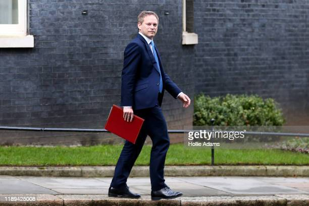 Britain's Secretary of State for Transport Grant Shapps walks through Downing Street on December 18 2019 in London England