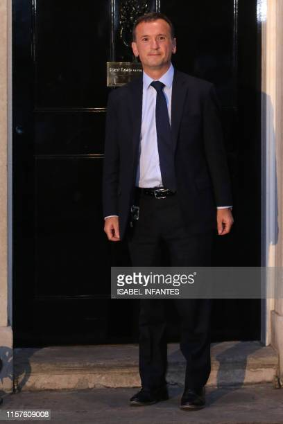 Britain's Secretary of State for Wales Alun Cairns leaves 10 Downing Street in London on July 24 2019 Boris Johnson took charge as Britain's prime...