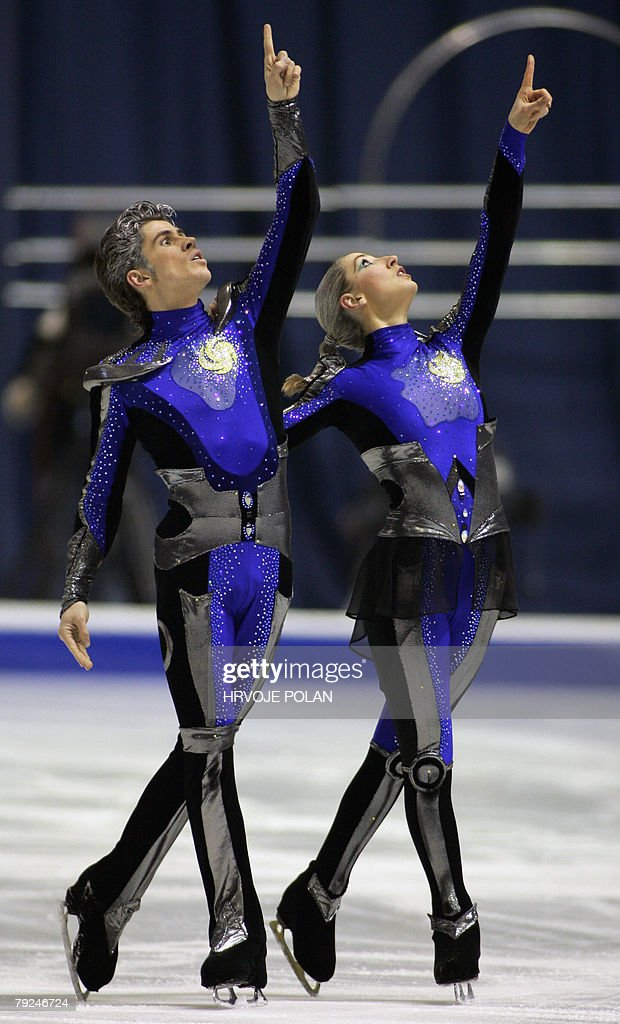Britain's Sinead and John Kerr perform their free dance at the Dom Sportova Arena in Zagreb, 25 January 2008, during the European Figure Skating Championships 2008.