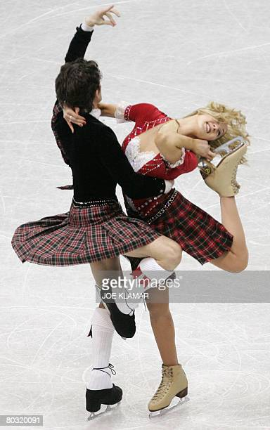 Britain's Sinead and John Kerr perform their original dance at the Scandinavium arena in Gothenburg on March 20 during the World Figure Skating...
