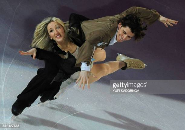 Britain's Sinead Kerr and John Kerr perform during the exhibition gala of the World Figure Skating Championships on March 28 2010 at the Palavela...