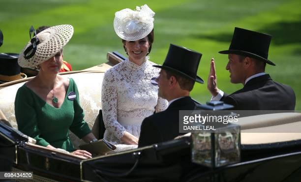 Britain's Sophie Countess of Wessex Britain's Catherine Duchess of Cambridge Britain's Prince Edward Earl of Wessex and Britain's Prince William Duke...