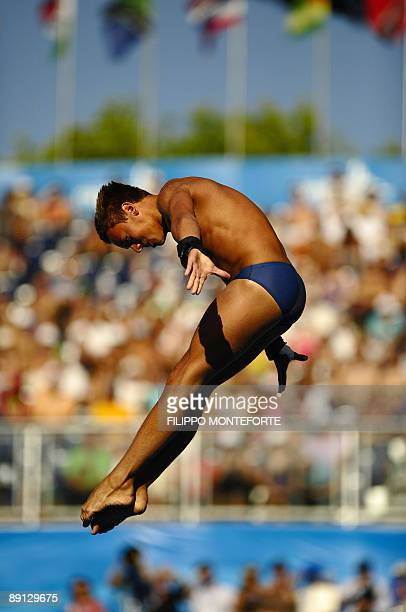 Britain's Thomas Daley competes during the men's diving 10m plateform final on July 21 2009 at the FINA World Swimming Championships in Rome ritain's...