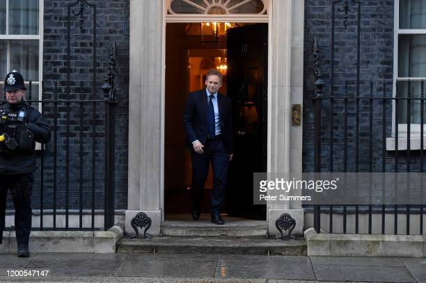 Britain's Transport Secretary Grant Shapps leaves 10 Downing Street on February 13 2020 in London England The Prime Minister has begun the first...